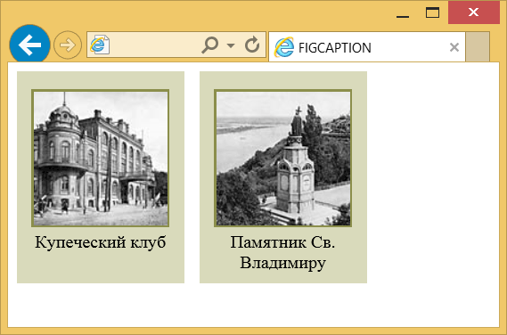 Использование figcaption