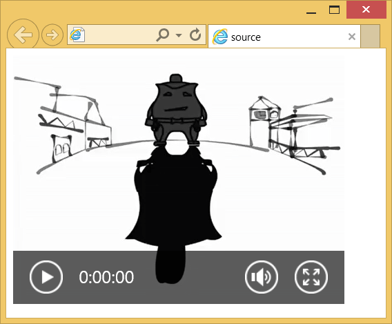 Воспроизведение видеофайла
