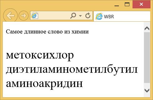 Перенос текста в браузере