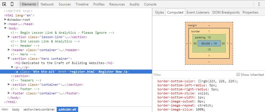 Инструменты разработчика Google Chrome, которые помогают нам проверять HTML и CSS на любой странице